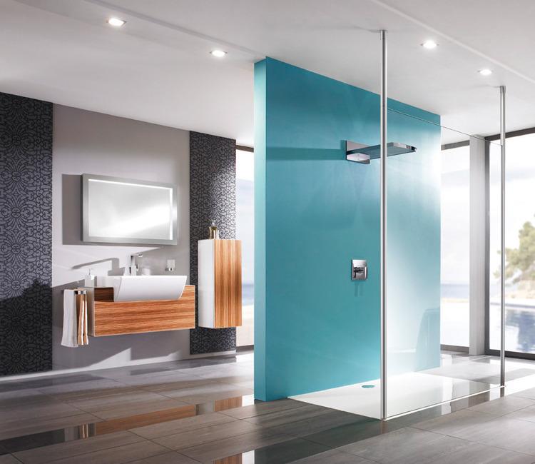 Breng een mooie accentkleur aan in je badkamer interieur wensen - Badkamer kleur ...