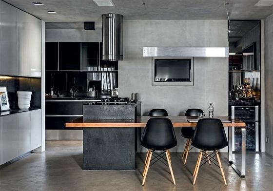 Keuken Verf Ideeën : Elegant Apartment Interiors