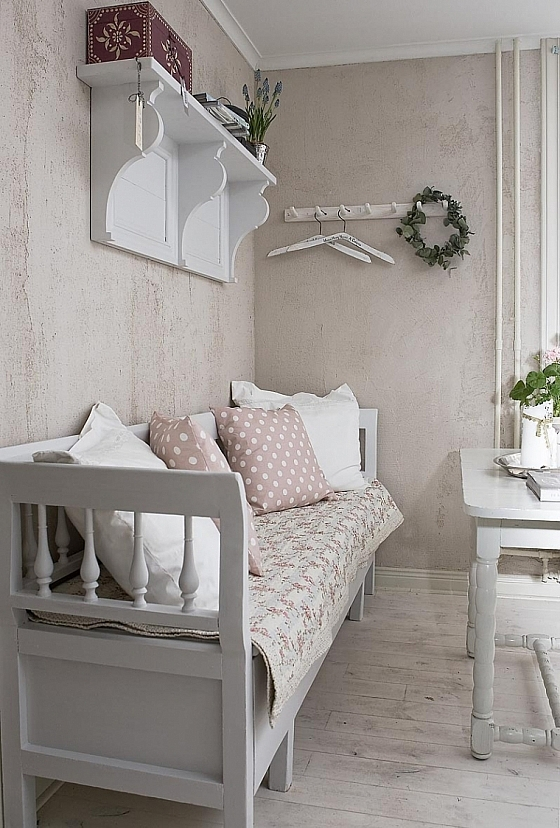 Sfeervolle brocante eetbank interieur wensen - Decoratie roze kamer ...