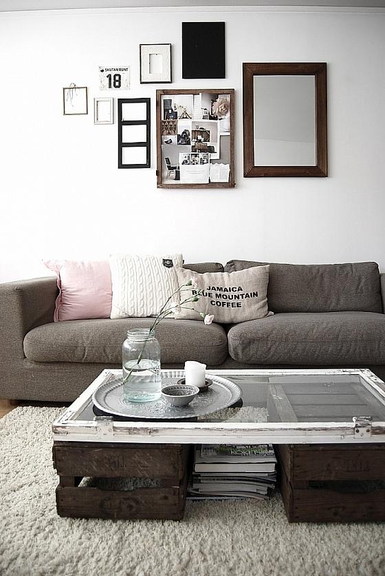 Doe het zelf salontafel met oude materialen