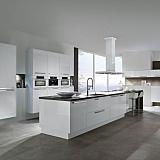 Hoogglans witte keuken bar