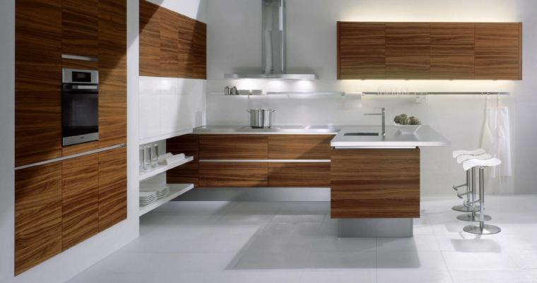 Keuken Grijs Met Hout : Luxe teakhouten keuken voorzien van alle gemakken ? Interieur Wensen