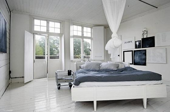 Wit geschilderde slaapkamer « Interieur Wensen