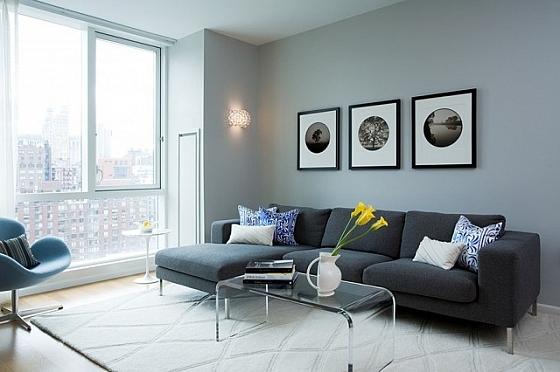 Stijlvolle woonkamer in grijstinten « Interieur Wensen